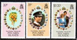 Pitcairn Island 1981 Royal Wedding Set Of 3, MNH - Stamps