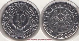 Antille Olandesi 10 Cents 1990 Km#34 - Used - Netherland Antilles