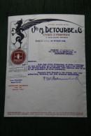 Lettre  Ancienne - Encres D'Imprimerie Vve M.DETOURBE  - PARIS - France