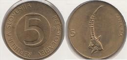 SLOVENIA 5 Tolarjev 1993 KM#6 - Used - Slovenia