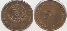 Slovenia 5 Tolarjev 1995 50th Anniversary Of F.A.O. Km#21 - Used - Slovenia