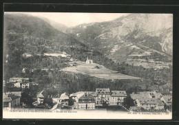 CPA Saint-Michel-de-Maurienne, Vue Générale, Route Du Galibier - Saint Michel De Maurienne