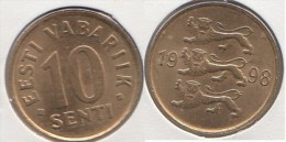 Estonia 10 Senti 1998 Km#22 - Used - Estonia