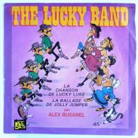 Disque Vinyle 45T THE LUCKY BAND - LA CHANSON DE LUCKY LUKE - ADES 1192 - Pochette MORRIS 1984 - Disques & CD