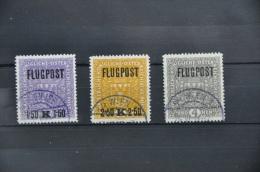 S 168 ++ OOSTENRIJK AUSTRIA 1918 ANK 225Y-227Y FLUGPOST USED GEBRUIKT - 1918-1945 1ère République