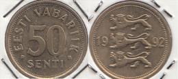 Estonia 50 Senti 1992 Km#24 - Used - Estonia