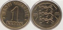 Estonia 1 Kroon 2001 Km#35 - Used - Estonia