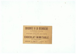 CHICOREE A LA MENAGERE CHOCOLAT INIMITABLE  DUROYON & RAMETTE à CAMBRAI  (NORD) - Advertising