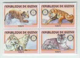 Guinea GUINEA 2001 Rotary 4x Tiger - Guinée (1958-...)