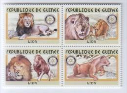 Guinea GUINEA 2001 Rotary 4x Löwe Lions - Guinée (1958-...)