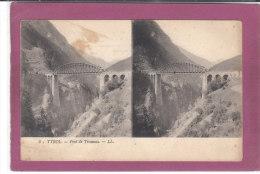 CARTE STEREOSCPIQUE  .- TYROL .-  Pont De Trisanna - Sonstige