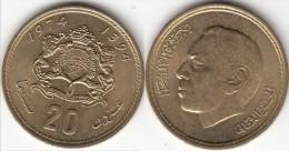 MAROCCO 20 Santimat 1974 Hassan II KM#y61 - Used - Maroc