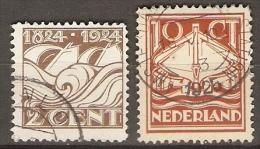 PAYS  BAS .  1924.   Y&T N°157 à 158 Oblitérés.    Série Complète - Usati