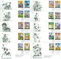 United States 2000 Legends Of Baseball FDC - Lot USA0010 - Ersttagsbelege (FDC)