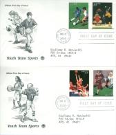 United States 2000 Youth Team Sports FDC - Lot USA0017 - Ersttagsbelege (FDC)
