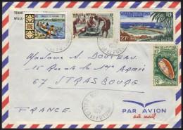 WALLIS & FUTUNA - MATA UTU /1971  # 157B, 166, 174 Et PA 23 SUR  LETTRE PAR  AVION POUR STRASBOURG (ref 6669) - Wallis And Futuna