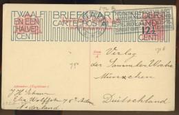 PC3-151 NETHERLANDS 1925 BRIEFKAART G204b 12 1/2ct OP 5c ROOD. ANTWOORDKAART. - Postal Stationery