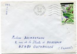 BENIN LETTRE PAR AVION DEPART COTONOU- R.P. 30-4-1986 R.P. DU BENIN POUR LA FRANCE - Bénin – Dahomey (1960-...)