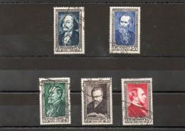 FRANCE    5 Timbres    1952    Y&T: 930 à 934    Oblitérés - France