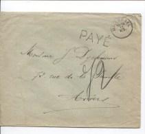 Lettre Fortune 1918 C.Watermael 11/12 + Griffe Payé V.Anvers PR2181 - Postmark Collection