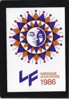 ILLUSTRATEUR JM PETEY PUB POUR IMPRIMERIE LA FRONTIERE VOEUX 1986 AVEC DÉDICACE - Petey