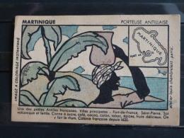 Publicité Phosphatine Falieres - Image à Coloriage Instantané - Martinique - Porteuse Antillaise - Werbepostkarten