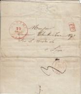 Voorloper Met Inhoud, Van Marche Naar Liege, PP (5604) - 1830-1849 (Belgique Indépendante)