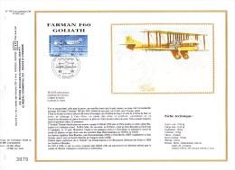 PA 57 (Yvert) Sur Feuillet 716 S Du Catalogue CEF (537 / Soie) - Avion Bimoteur Farman F 60 Goliath - 1984 - FDC
