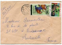 BENIN LETTRE PAR AVION DEPART COTONOU R.P. 16-4-86 R.P. DU BENIN POUR LA FRANCE - Bénin – Dahomey (1960-...)