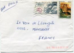 BENIN LETTRE PAR AVION DEPART COTONOU AEROPORT 1985-18-3 RP. BENIN POUR LA FRANCE - Bénin – Dahomey (1960-...)