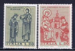 I+ Italien 1974 Mi 1435-36 1453-54 1455 1457 1461 Mnh Normannen, Leichtathletik-EM, Petrarca, Tommaseo, Puccini - 6. 1946-.. Repubblica