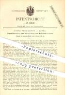 Original Patent - Louis Bergognon In Basel , 1881 , Flechtmaschine Zur Herstellung Von Webstuhl - Litzen , Weber !!! - Documents Historiques