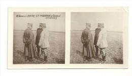 Stereo : Après 1900  Général Joffre, Gal Cardonat Et Général D'Esperey - Stereoscopio
