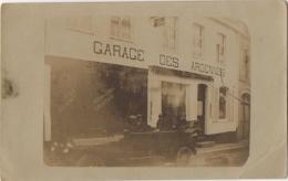 Carte Photo. Auto Devant Le Garage Des Ardennes. A Situer. - Automobiles