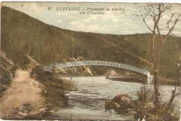 STAVELOT     ---  Passerelle De Challes Sur L' Amblève - Stavelot