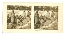 Stereo : Après 1900  Troupes Coloniales. Tirailleurs Jouant - Stereoscopio