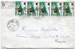 BENIN LETTRE RECOMMANDEE DEPART COTONOU GBEGAMEY 17-6-83 RP. BENIN POUR LA FRANCE - Bénin – Dahomey (1960-...)