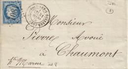 060. LAC N°60 - Càd Colombey Les Deux églises (HAUTE MARNE) - Indice 8 - 1875 - Postmark Collection (Covers)