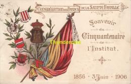 CPA  SOUVENIR DU CINQUANTENAIRE DE L'INSTITUT 1856 3 JUIN 1906 BRUXELLES - Enseignement, Ecoles Et Universités