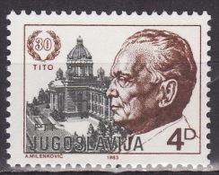 Yugoslavia 1983. 30 Years Of Tito´s Election For President, MNH(**) Mi 1988 C - Ongebruikt