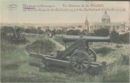 Namur, Les Canons De La Citadelle, Feldpost, Kaiserliche Schutzverwaltung Lüttich, Postkarte - Belgien