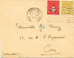 1945 - Lettre Avec 2 Timbres Arc De Triomphe N°623 Et  708 - France