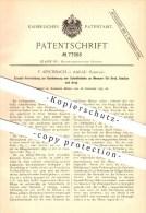 Original Patent - F. Aeschbach , Aarau , Schweiz , 1893 , Messer Für Brot , Gemüse , Schneiden , Haushalt , Gemüsemesser - Documents Historiques