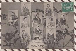 5AH1785 SOUVENIR DE VENDEE COIFFES  2 SCANS - France