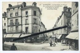 CPA -  Alençon Abîmée - Le Carrefour Aux Sieurs - Au Croisement De La Grande Rue Et Des Rues Aux Sieurs Et Du Pont Neuf - Alencon