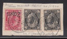 Canada Used Scott #66, #87 On Piece RPO Cancel: 'Halifax & Yarmouth R.P.O. AP 19 20' - 1851-1902 Règne De Victoria