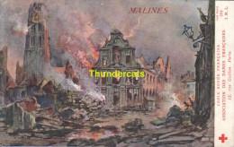 CPA ILLUSTRATEUR FRAIPONT  CROIX ROUGE FRANCAISE MALINES MECHELEN GUERRE 1914 - Croix-Rouge