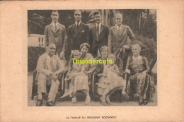 CPA  LA FAMILLE DU PRESIDENT ROOSEVELT - Personnages