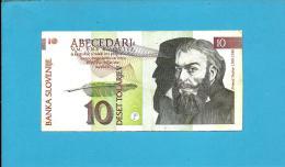 SLOVENIA - 10 TOLARJEV - 1992 - Pick 11 - Prefix RT - Banka Slovenije - 2 Scans - Slovénie