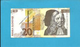 SLOVENIA - 20 TOLARJEV - 1992 - Pick 12 - Prefix VJ - Banka Slovenije - 2 Scans - Eslovenia